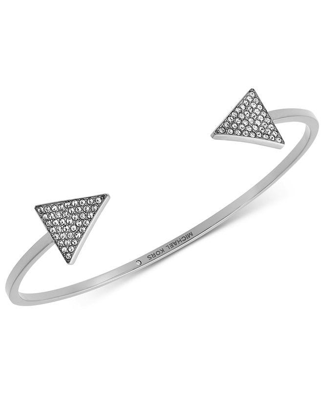 Michael Kors Pavé Triangle Open Cuff Bracelet