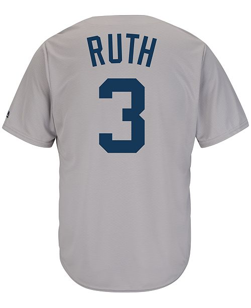 detailed look 0e42e 8c5d1 Majestic Men's Babe Ruth New York Yankees Cooperstown Replica Jersey