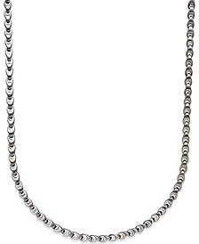 Men's Diamond Accent Link Necklace in Stainless Steel