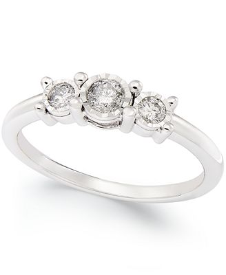 3 promise ring in 10k white gold 1 4 ct t