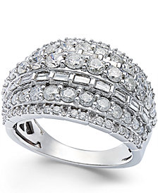 Diamond Multi-Row Ring in Sterling Silver (2 ct. t.w.)
