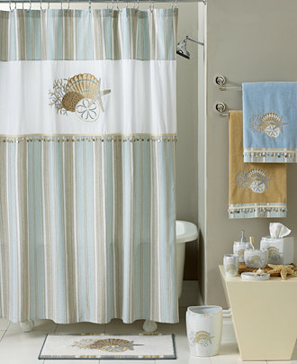 Shower Curtain Set Seass Anchors Starfish On Wooden Backdrop Nautical Elements Icon Sea Theme