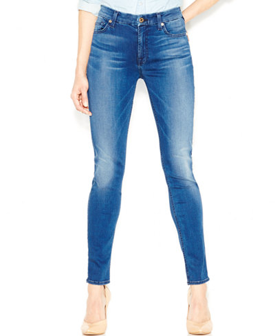 7 For All Mankind Slim Illusion Mid-Rise Skinny Jeans - Jeans ...
