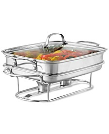 Classic Stainless Steel Rectangular Covered Buffet Server