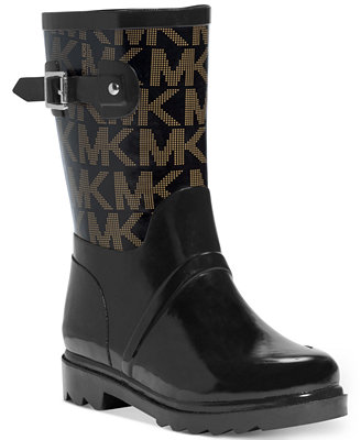 Michael Michael Kors Logo Mid Rainboots Boots Shoes