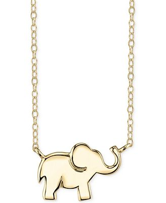 unwritten jewelry unwritten elephant pendant necklace in 14k gold plated 8275