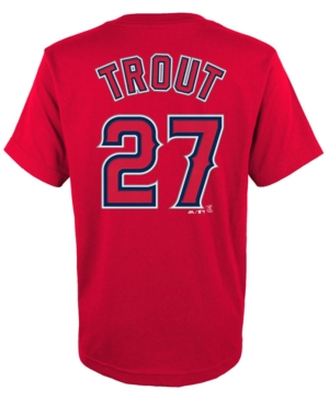 Majestic Los Angeles Angels of Anaheim Mike Trout Tee - Boys 8-20