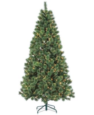 Sterling Hard Needle 7' Pre-Lit Artificial Christmas Tree ...