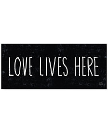 "'Love Lives Here' Canvas Print by Michael Mullan, 14"" x 32"""