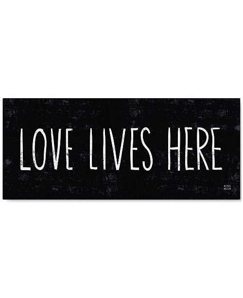 "Trademark Global 'Love Lives Here' Canvas Print by Michael Mullan, 14"" x 32"""