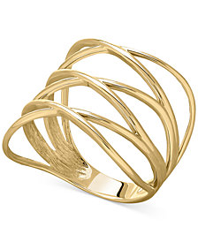 Openwork Crossover Ring in 14k Gold