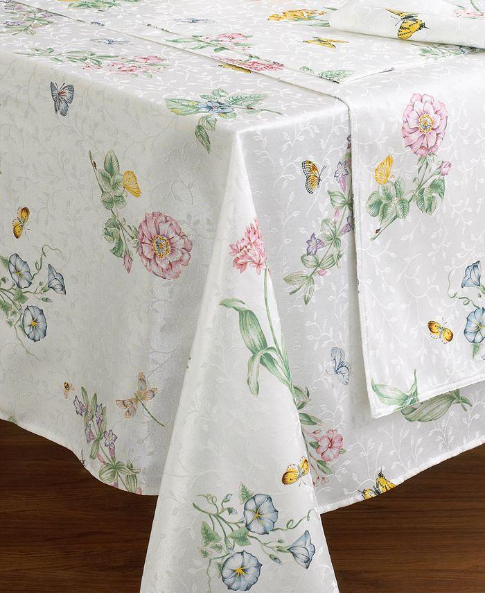 "Lenox - ""Butterfly Meadow"" Oblong Tablecloth, 60x102"""