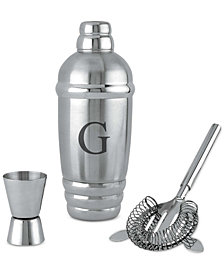 Lenox Tuscany Monogram Barware Cocktail Shaker, Block Letters