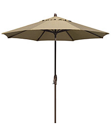 Patio Umbrella, Outdoor Bronze 9' Auto-Tilt, Quick Ship