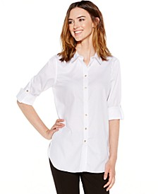 Non-Iron Button-Down Tunic