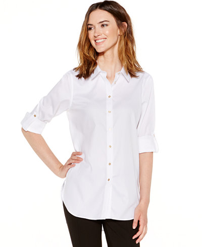 Calvin Klein Non-Iron Button-Down Tunic