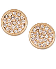 lonna & lilly Mixed Metal Pavé Disc Stud Earrings