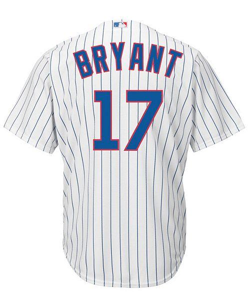 quality design d32e9 e24e5 Men's Kris Bryant Chicago Cubs Replica Jersey