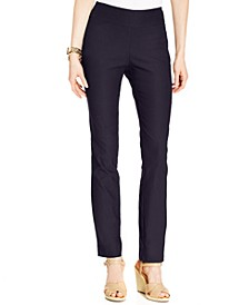 Petite Cambridge Tummy-Control Slim-Leg Pants, Created for Macy's