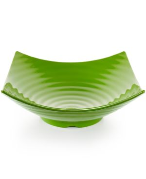 Q Squared Zen Melamine Green Serving Bowl
