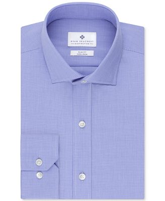 Ryan Seacrest Distinction Non-Iron Slim-Fit Houndstooth Dress Shirt, Only at Macy's
