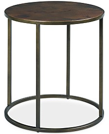 Copper Round End Table