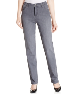 Lee Platinum Petite Gwen Domino Wash Straight-Leg Jeans
