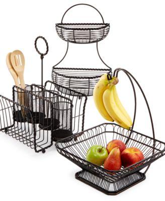 Gourmet Basics By Round Wrap 3-Tier Basket