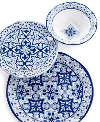 Talavera Azul Collection Melamine 10.5