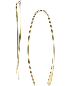Double Threader Earrings in 14k Gold
