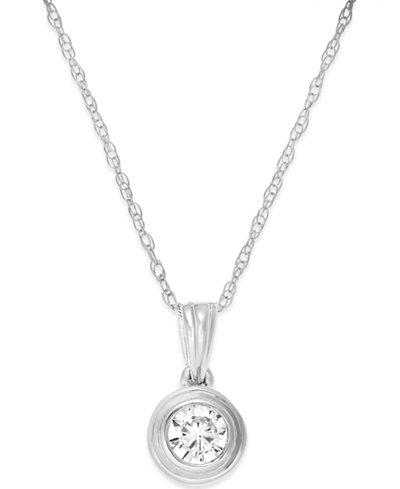 Diamond bezel pendant necklace 15 ct tw in 14k white gold diamond bezel pendant necklace 15 ct tw in 14k white gold aloadofball Choice Image