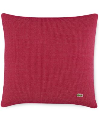 Lacoste Cardigan Rib Cushion 18x18 Throw Pillow White
