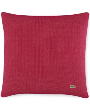 "Image of Lacoste Home Auckland Red Caviar Knit 18"" Square Decorative Pillow Bedding"