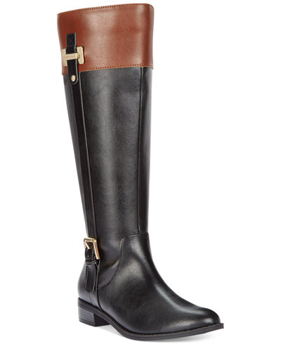 Karen Scott Deliee Wide-Calf Riding Boots, Only at Macy's - Boots ...