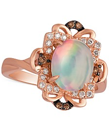 Le Vian Opal (1-1/5 ct. t.w.) and Diamond (1/6 ct. t.w.) Ring in 14k Rose Gold, Created for Macy's