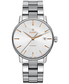 Rado Men's Swiss Automatic Coupole Classic Stainless Steel Bracelet Watch 38mm R22860023
