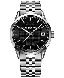 raymond weil watches macy s raymond weil men s swiss automatic lancer stainless steel bracelet watch 42mm 2740 st 20021