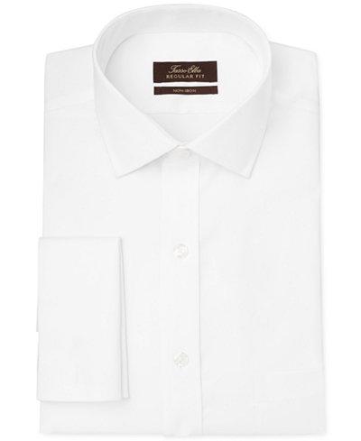 Tasso Elba Classic-Fit Non-Iron Twill Solid French Cuff Dress ...