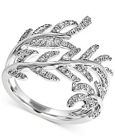 EFFY Diamond Leaf Ring (5/8 ct. t.w.) in 14k White Gold