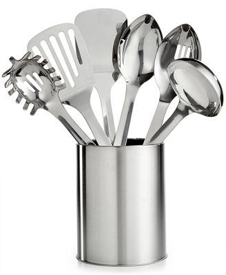 Martha Stewart Collection 7 Pc Stainless Steel Utensil Set Created