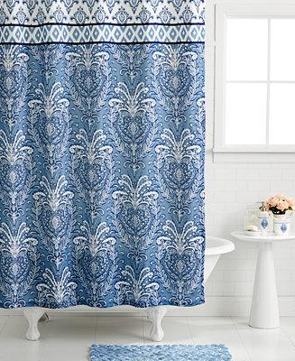 Dena Bath Accessories Madison Shower Curtain Bathroom Accessories Bed Bath Macy 39 S