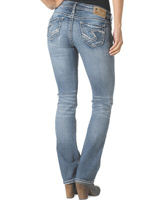 Silver Jeans Tuesday Low-Rise Bootcut Jeans - Juniors Jeans - Macy's