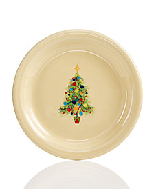Fiesta Christmas Tree Appetizer Plate