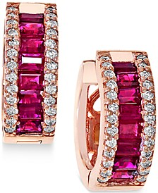EFFY® Ruby (1-1/2 ct. t.w.) and Diamond (3/8 ct. t.w.) Earrings in 14k Rose Gold