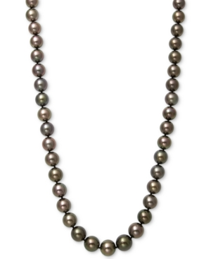 """Cultured Tahitian Pearl (8-11mm) Strand 17.5"""" Necklace in 14k White Gold"""