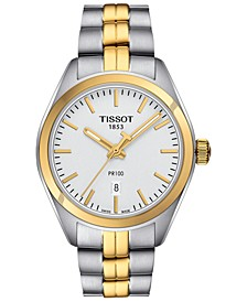 Men's Swiss PR100 Two-Tone Stainless Steel Bracelet Watch 39mm T1014102203100