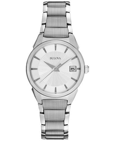 Bulova Women's Stainless Steel Bracelet Watch 25mm 96M111