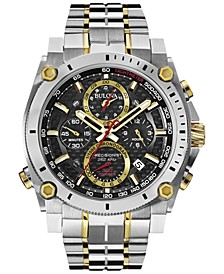 Men's Chronograph Precisionist Two-Tone Stainless Steel Bracelet Watch 47mm 98B228