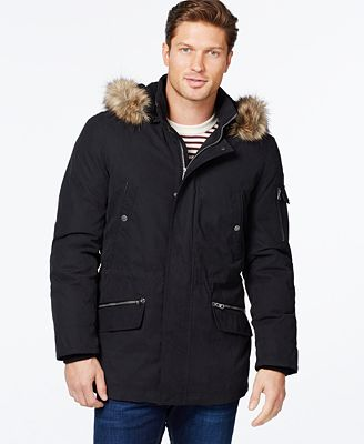 Nautica Parka with Removable Faux-Fur Hood - Coats & Jackets - Men ...