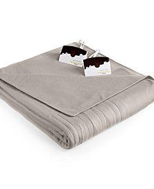 Biddeford Comfort Knit Fleece Heated Queen Blanket
